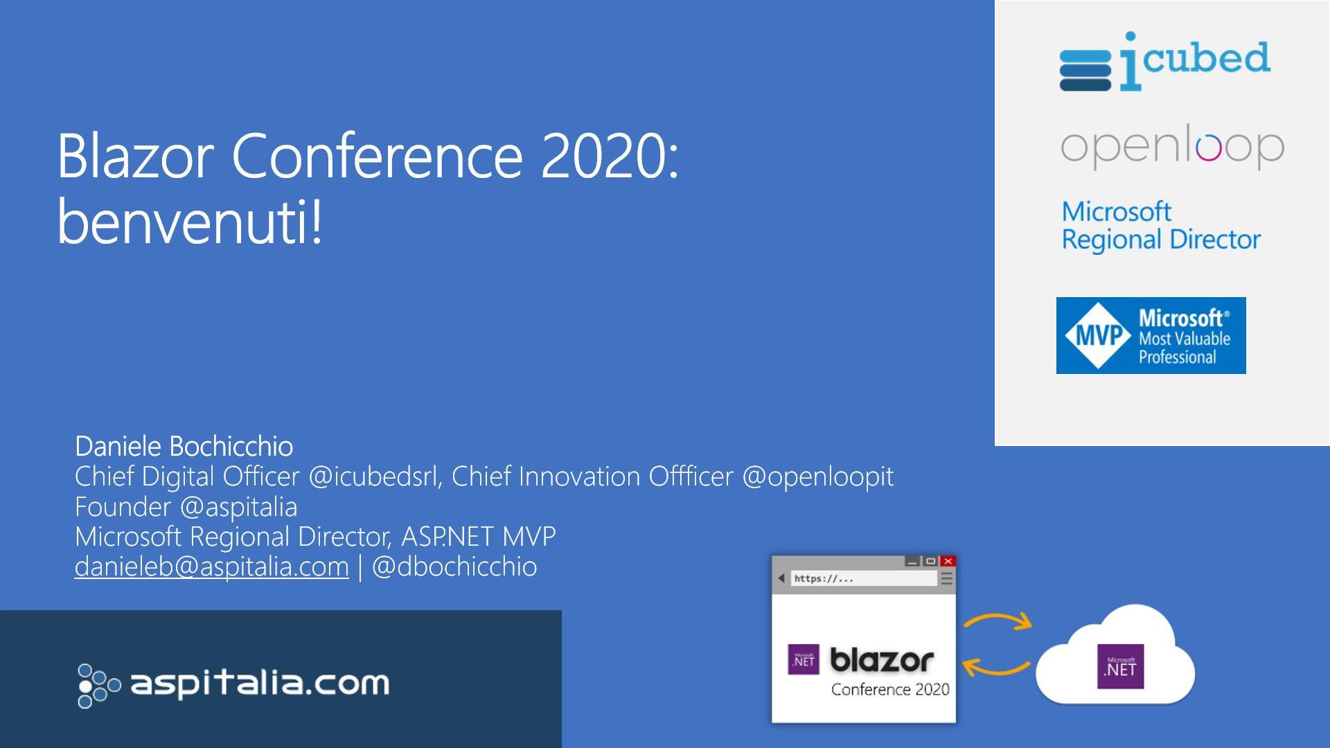 #blazor: from 0 to SPA https://aspit.co/b0j di @dbochicchio #vs #webassembly