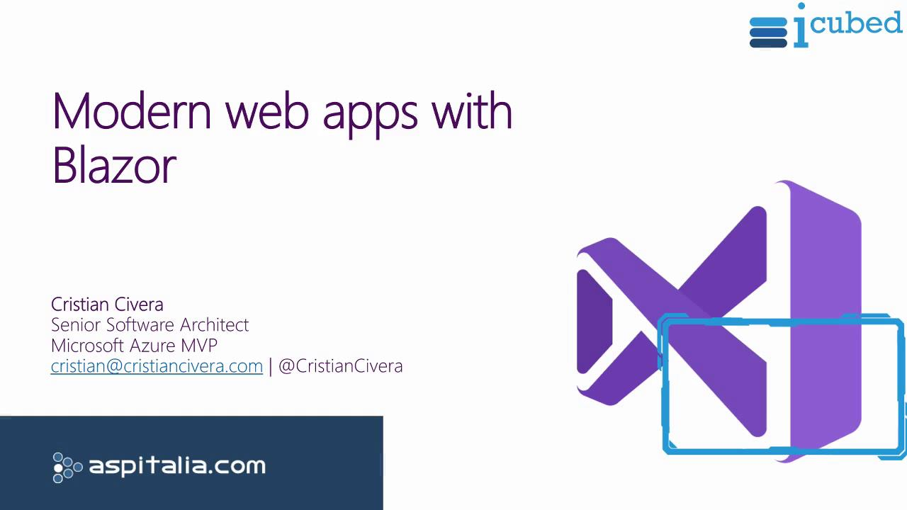 Modern web apps with #blazor https://aspit.co/bwb di @CristianCivera #PWA #vs2019